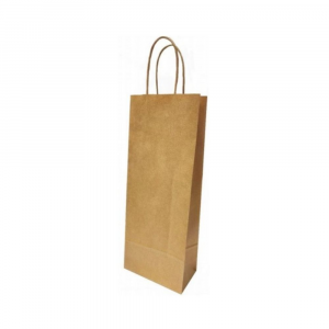 Shopper bottiglie in carta sealing avana 110g - 14x7,5x39