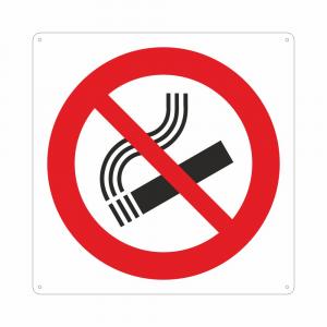 Cartello con simbolo vietato fumare