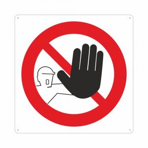 Cartello con simbolo vietato l'accesso