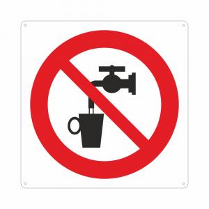 Cartello con simbolo Non bere