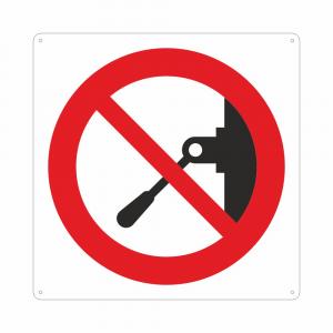 Cartello con simbolo vietato effettuare manovre