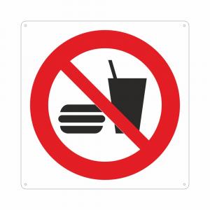 Cartello Vietato bere o mangiare