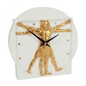 Orologio da tavolo Uomo bianco resina decorata a mano
