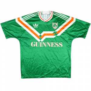 1990 Ireland Home Shirt  Guinness Prototype L (Top)