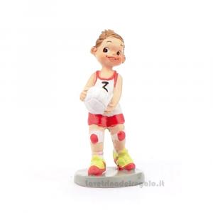 Statuina bambina Pallavolista in resina 6 cm - Bomboniera comunione bimba