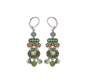 Green moonlight Earrings