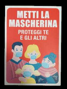 CARTELLO UTILIZZO MASCHERINA ANTICOVID