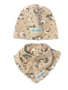 Set baby Procione: cappello + bavetta baby