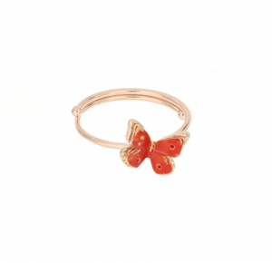 Anello Farfalla Arancione