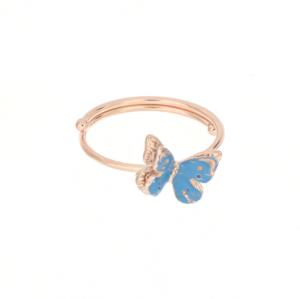 Anello Farfalla Celeste