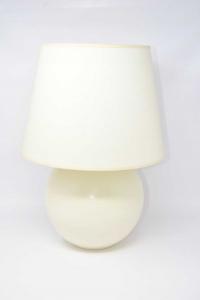Lampada In Ceramica Bianca Con Paralume