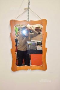 Specchio Vintage Con Cornice In Legno 50 X 70 Cm