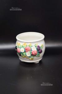 Vaso In Ceramica Porta Fiori