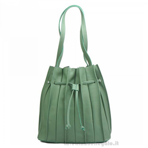 Borsa Verde chiaro a spalla con tracolla in pelle - Amalia - Pelletteria fiorentina
