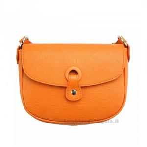 Borsa Arancione a tracolla in pelle - Gemma - Pelletteria fiorentina