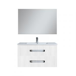 MOBILE BAGNO SERIE SIRIO  (DA COMPORRE)                                Base 100x46x50 Larice Bianco