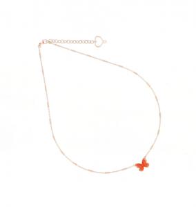 Girocollo Farfalla Arancio