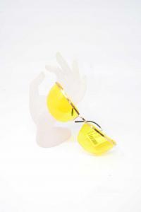 Occhiali Con Lente Gialla Made In France Dorati