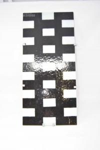 Lampada Da Appendere Con Vetro Bianco Nero 56 X 26 Cm