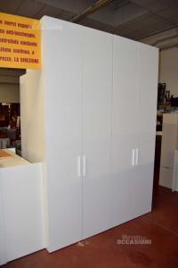Armadio 2 Ante Bianco NUOVO Altezza 257 Cm (2 pezzi disponibili)
