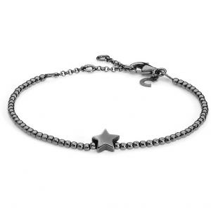Bracciale donna Gioielli Comete stella in argento brunito 925 BRA154