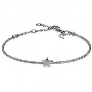 Bracciale donna semirigido Gioielli Comete stella in argento brunito 925 BRA163