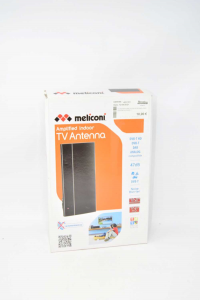 Tv Antenna Meliconi 47 DB Amplified Indoor Nuova