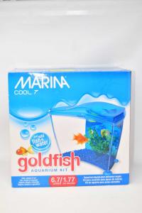 Acquario Marina Cool 7 Goldfish Con Accessori