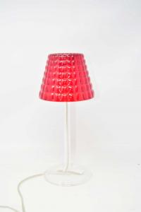 Lampada Guzzini In Plastica Rossa 32 Cm