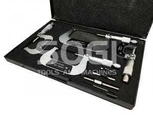 MICROMETRI PER ESTERNI IN SET 4 PZ DA 0 A 100 mm SOGI MICROMETRO CENTESIMALE ASSORTIMENTO MIC-0-100