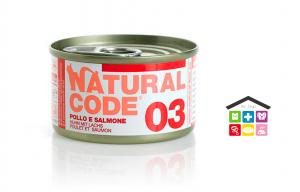 Natural code 03 POLLO E SALMONE 0,95g