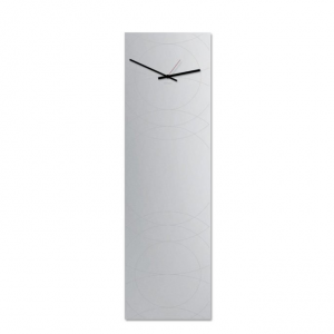 Orologio da parete Narciso specchio verticale a muro nero 30x100