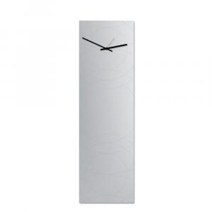 Orologio da parete Narciso specchio verticale a muro grigio chiaro 30x100