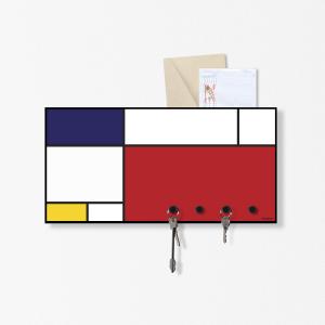 Organizer portalettere da parete Mondrian 40x20 cm con 3 magneti