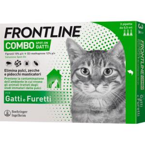 Frontline Combo 6 Pipette Antiparassitario per Gatti, Gattini e Furetti