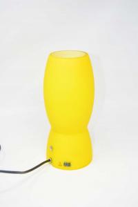 Lampada In Vetro Di Murano Aureliano Toso Made In Italy Colore Giallo Altezza 26 Cm