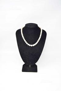 Collana In Perle Di Fiume Con Gancio In Argento 925