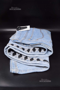 Jeans Donna Fly Time Modello Vintage Tg 48