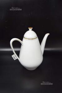Teiera In Ceramica Bavaria - Germany Bianca 24 Cm (difetto Coperchio)