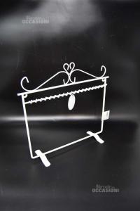 Porta Collana Bianca In Metallo 30 X 30 Cm