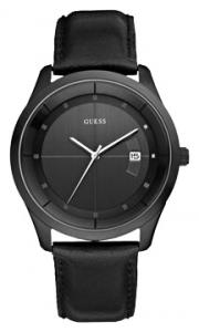 Orologio solo tempo uomo Guess con cinturino in pelle nero W11139G1