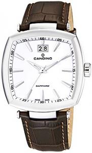 Orologio Swiss Made uomo Candino con cinturino pelle marrone C4483/1