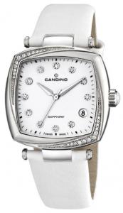 Orologio Swiss made donna Candino con cinturino in pelle bianco C4484/2