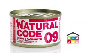 Natural code 09 TONNO E GAMBERETTI 0,85g