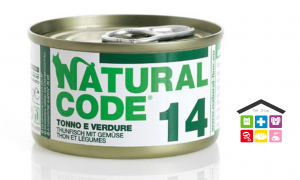 Natural code 14 TONNO E VERDURE 0,85g
