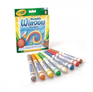 Crayola 8 Pennarelli Lavabili per Vetro