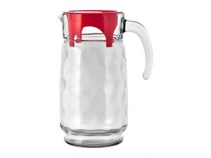 Caraffa vetro coperchio rosso 1.65lt