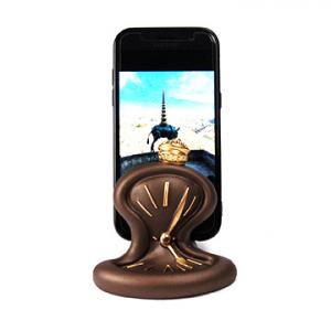Porta telefono cellulare Orologio da tavolo resina bronzo Made in Italy