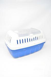 Pet Carrier White Blue 40x26x23 Cm