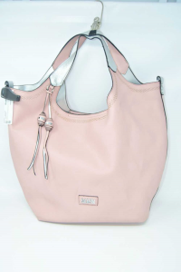 Bag Woman Faux Leather Coveri Pink / Silver 30x15x35 Cm With Shoulderstrap